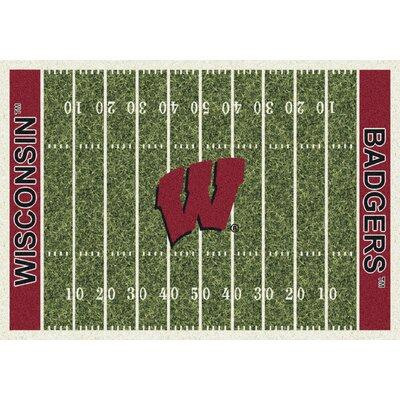 College Home Field NCAA Wisconsin Novelty Rug Rug Size: 54 x 78