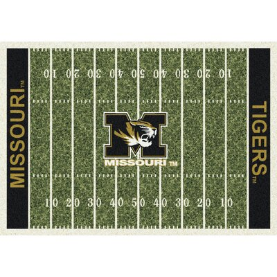 College Home Field NCAA Missouri Novelty Rug Rug Size: 109 x 132
