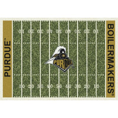 College Home Field NCAA Purdue Novelty Rug Rug Size: 54 x 78