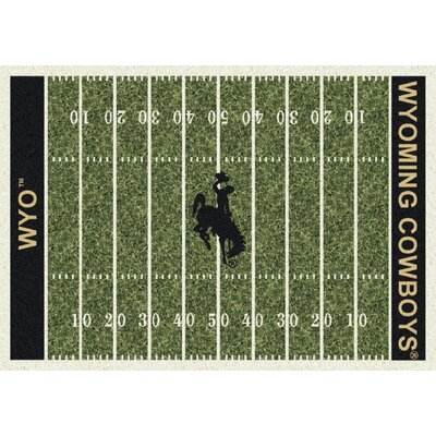 College Home Field NCAA Wyoming Novelty Rug Rug Size: 109 x 132