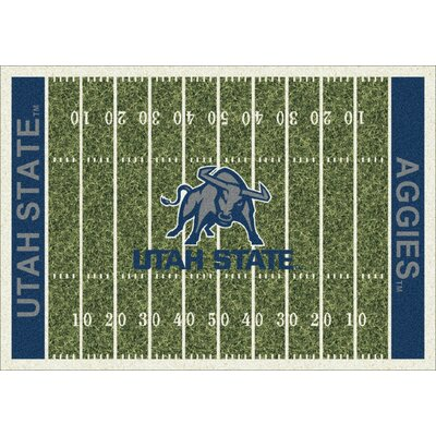 College Home Field NCAA Utah State Novelty Rug Rug Size: 109 x 132