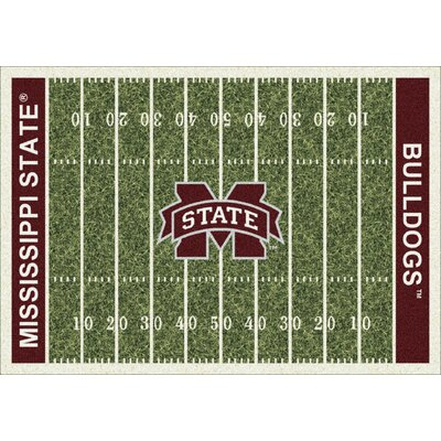College Home Field NCAA Mississippi State Novelty Rug Rug Size: 54 x 78