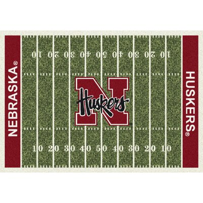 College Home Field NCAA Nebraska Novelty Rug Rug Size: 109 x 132