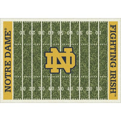 College Home Field NCAA Notre Dame Novelty Rug Rug Size: 54 x 78