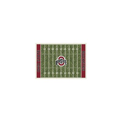 College Home Field NCAA Ohio State Novelty Rug Rug Size: 54 x 78