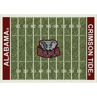 College Home Field NCAA Alabama Novelty Rug Rug Size: 54 x 78