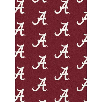 NCAA Team Repeating Novelty Rug Rug Size: Rectangle 109 x 132, NCAA Team: Alabama