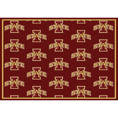 NCAA Team Repeating Novelty Rug Rug Size: Rectangle 54 x 78, NCAA Team: Iowa State