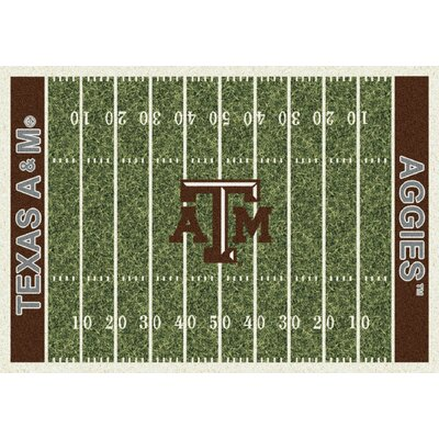 College Home Field NCAA Texas A&M Novelty Rug Rug Size: 54 x 78
