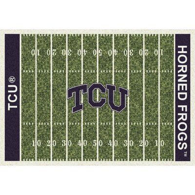 College Home Field NCAA Texas Christian Novelty Rug Rug Size: 54 x 78