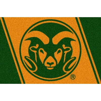Collegiate Colorado State University Doormat Mat Size: Rectangle 54 x 78