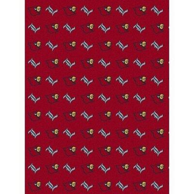 Collegiate II Louisville Cardinals Rug Size: 109 x 132