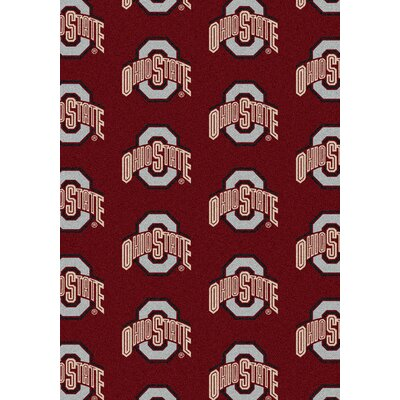 College Repeating NCAA Ohio State Novelty Rug