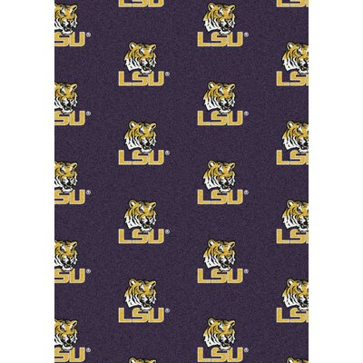 College Repeating NCAA LSU Novelty Rug
