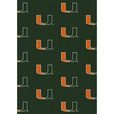 NCAA Team Repeating Novelty Rug NCAA Team: University of Miami