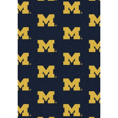 NCAA Team Repeating Novelty Rug NCAA Team: University of Michigan
