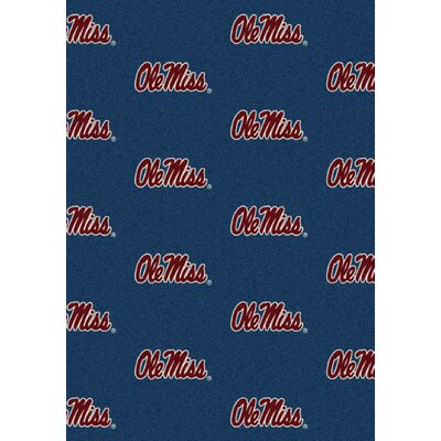 College Repeating NCAA Mississippi Novelty Rug