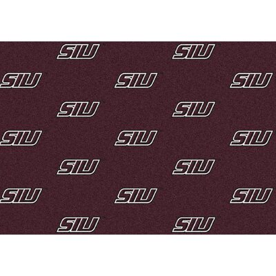 College Repeating NCAA Southern Illinois Novelty Rug
