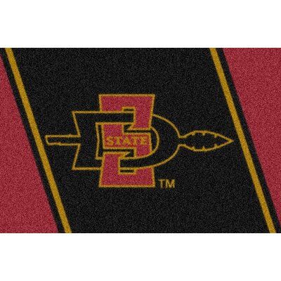 Collegiate San Diego State University Aztecs Mat Rug Size: 54 x 78