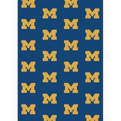 Collegiate II Michigan Big Blue Rug Size: 54 x 78