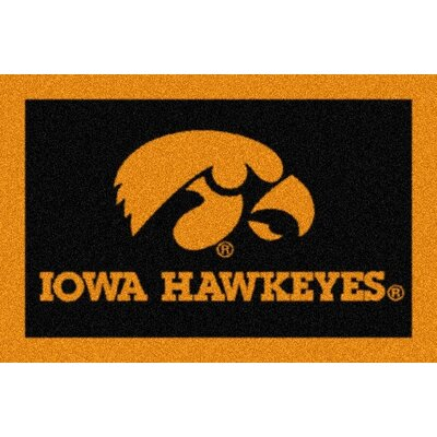 Collegiate University of Iowa Hawkeyes Mat Mat Size: Rectangle 28 x 310