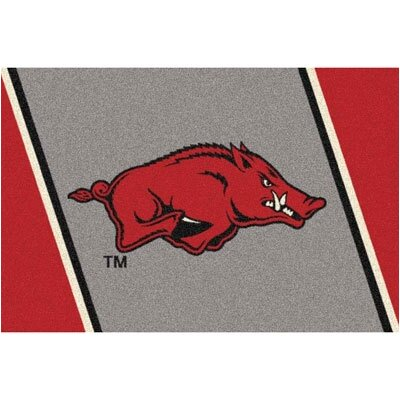 Collegiate University of Arkansas at Fayetteville Razorbacks Mat Rug Size: 54 x 78