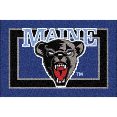 Collegiate University of Maine Black Bears Mat Rug Size: 54 x 78