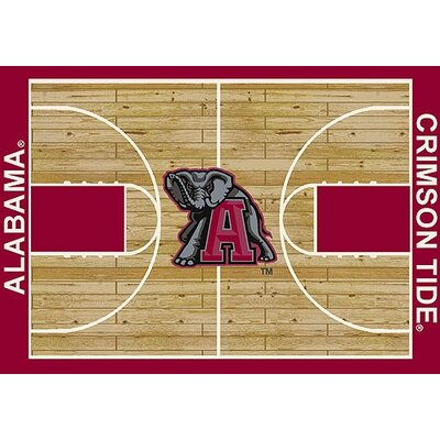 NCAA College Home Court Alabama Novelty Rug Rug Size: 78 x 109