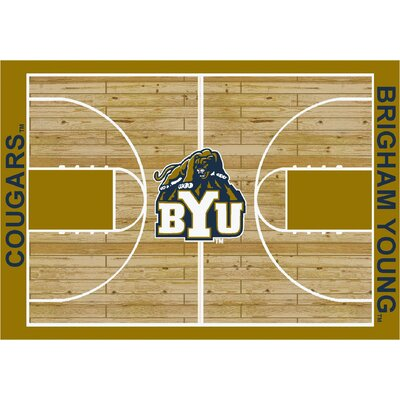 NCAA College Home Court Brigham Young Novelty Rug Rug Size: 109 x 132