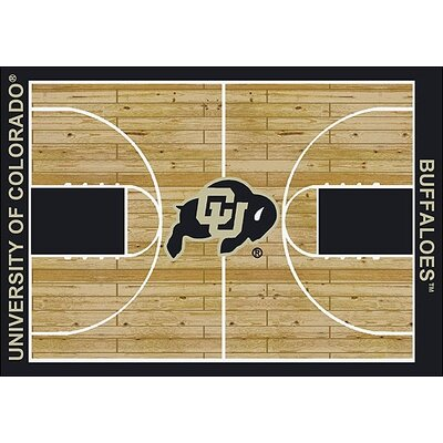 NCAA College Home Court Colorado - Buffalos Novelty Rug Rug Size: 109 x 132