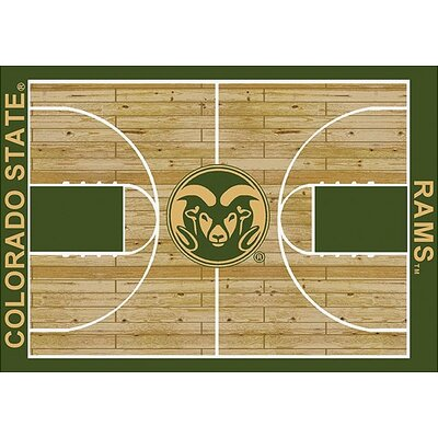 NCAA College Home Court Colorado State Novelty Rug Rug Size: 54 x 78