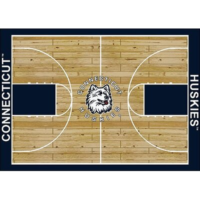 NCAA College Home Court Connecticut 310 x 54 Novelty Rug