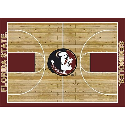 NCAA College Home Court Florida State Novelty Rug Rug Size: 78 x 109