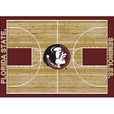 NCAA College Home Court Florida State Novelty Rug Rug Size: 109 x 132
