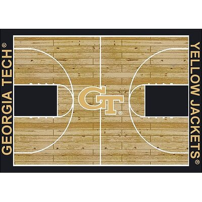 NCAA College Home Court Georgia Tech Novelty Rug Rug Size: 109 x 132
