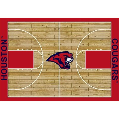 NCAA College Home Court Houston Novelty Rug Rug Size: 109 x 132