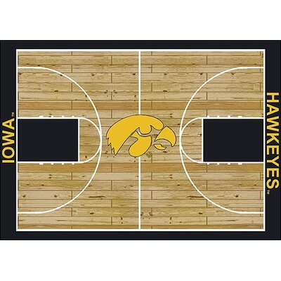 NCAA College Home Court Iowa Novelty Rug Rug Size: 54 x 78
