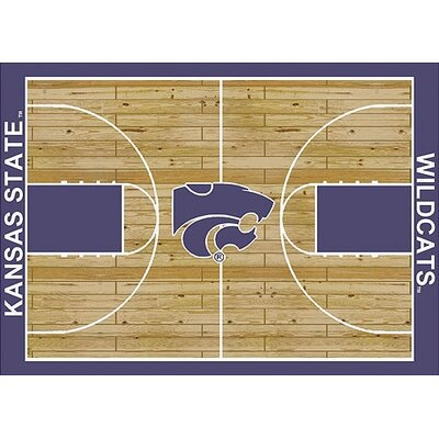 NCAA College Home Court Kansas State Novelty Rug Rug Size: 78 x 109