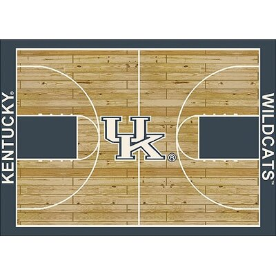 NCAA College Home Court Kentucky Novelty Rug Rug Size: 109 x 132