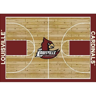 NCAA College Home Court Louisville Novelty Rug Rug Size: 109 x 132