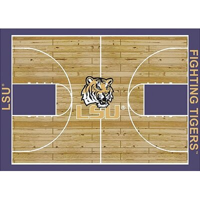 NCAA College Home Court LSU Novelty Rug Rug Size: 109 x 132