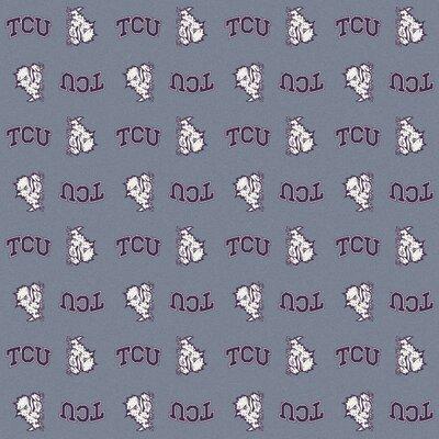 NCAA Collegiate II TCU Novelty Rug Rug Size: 109 x 132