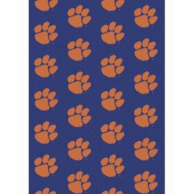 NCAA Collegiate II Clemson Novelty Rug Rug Size: 109 x 132