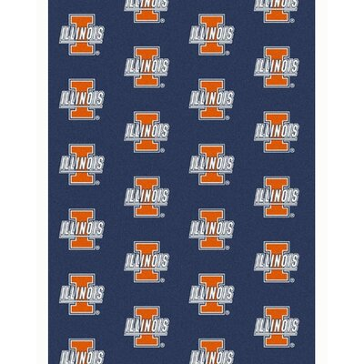 NCAA Collegiate II Illinois Novelty Rug Rug Size: 109 x 132
