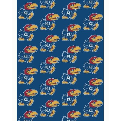 NCAA Collegiate II Kansas Novelty Rug Rug Size: 109 x 132