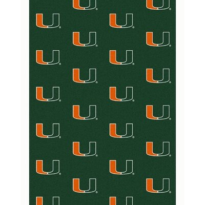 NCAA Collegiate II Miami Novelty Rug Rug Size: 109 x 132