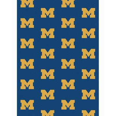 NCAA Collegiate II Michigan Novelty Rug Rug Size: 109 x 132