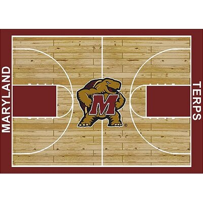 NCAA College Home Court Maryland Novelty Rug Rug Size: 109 x 132