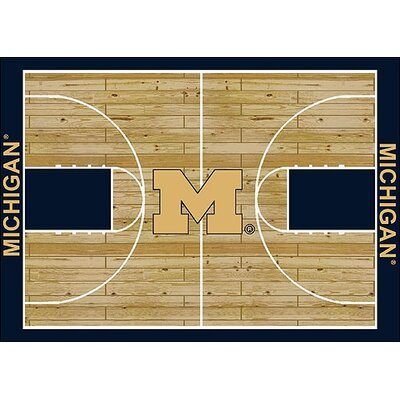 NCAA College Home Court Michigan Novelty Rug Rug Size: 78 x 109