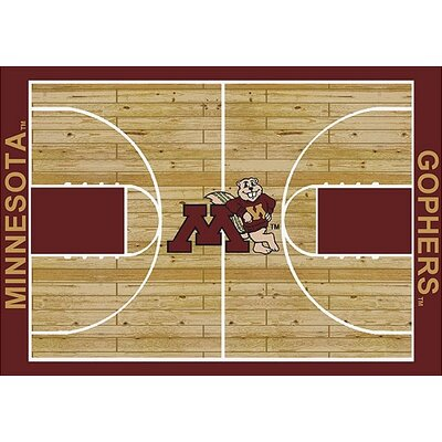 NCAA College Home Court Minnesota Novelty Rug Rug Size: 54 x 78